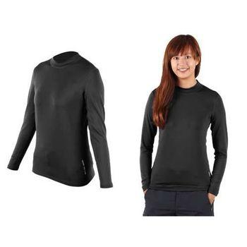 【WILDLAND】女高領長袖T恤--保暖衣 刷毛 遠紅外線 深灰