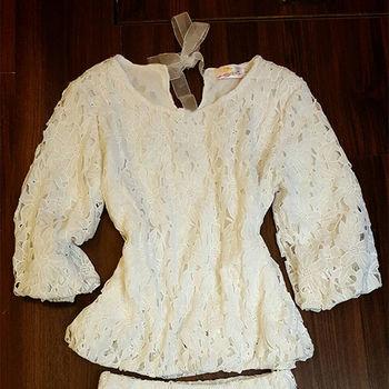 喜樂絲後網紗綁帶小性感蕾絲短褲套裝