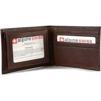 【Alpine Swiss】2016時尚雙折2合1信用卡古褐色皮夾(預購)