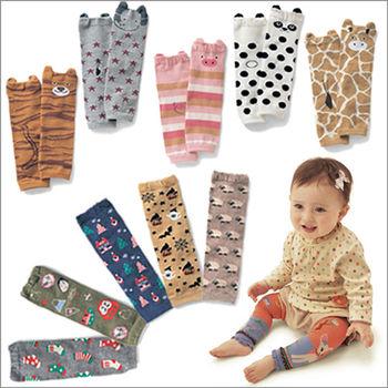 【三雙入】寶寶純棉保暖動物插畫護膝襪套