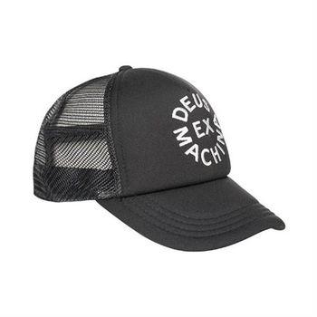Deus Ex Machina Circle Logo Trucker 棒球帽 | 騎士衝浪品牌 - ( 黑底白 )