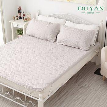 【DUYAN竹漾】防水平單式竹炭保潔墊+枕套組─雙人
