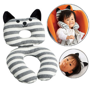 日本COGIT Q喵造型幼兒枕頭靠枕墊