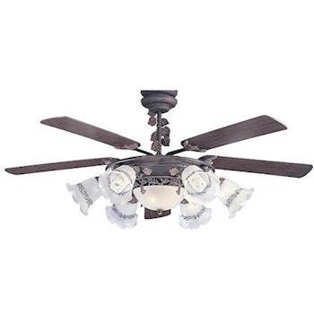 貝斯特 60吊扇+六燈組含夜燈-遙控款(AS23028G)