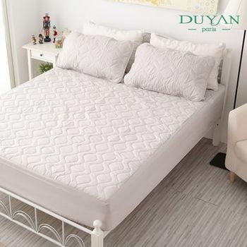 【DUYAN竹漾】防水床包式竹炭保潔墊+枕套組─單人