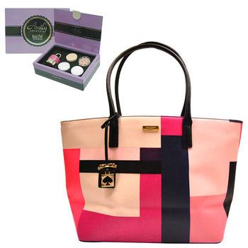 【KATE SPADE】時尚印象派色塊手提包