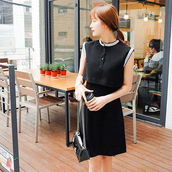 Fabulous!!】韓版極簡無袖微性感後背開叉洋裝