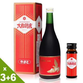 【大和酵素】人蔘酵素原液 3大6小瓶(720ml+30ml)