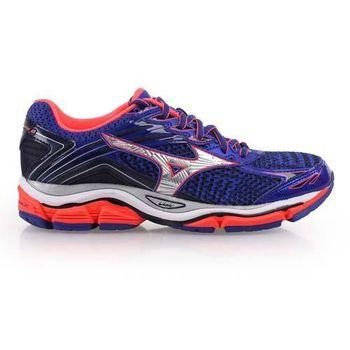 【MIZUNO】WAVE ENIGMA 6 女慢跑鞋- 路跑 美津濃 藍銀