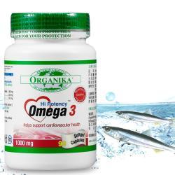 Organika優格康Omega3魚油1000mg(90顆/瓶)