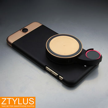 ZTYLUS iPhone 6 6s  鋁合金手機殼+ RV2 四合一鏡頭 玫瑰金限量禮盒組 (ZIP-6+RV-2,公司貨)微距 廣角 魚眼 偏光