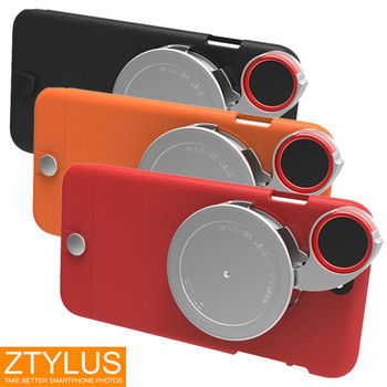 ZTYLUS iPhone 6 / 6s Plus 輕量系列 手機殼+ RV2 四合一鏡頭 塑膠殼 (ZIP-6PL+RV-2,公司貨)微距 廣角 魚眼 偏光