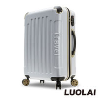 ~LUOLAI~極速炫焰 20吋碳纖維紋PC鏡面行李箱 #47 登機箱 #40 白色 #4