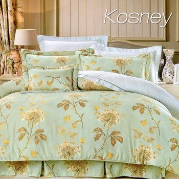 【KOSNEY】安琪拉  雙人100%天絲TENCEL四件式兩用被床包組
