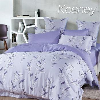 【KOSNEY】流年記憶 加大100%天絲TENCEL四件式兩用被床包組