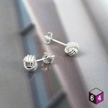 ART64 耳環 協奏曲 925純銀纏繞圓球形耳環 氣質典雅