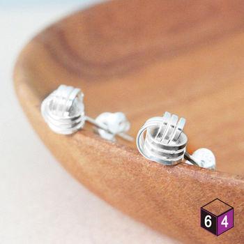 ART64 耳環  交響樂曲 925純銀纏繞圓球形耳環 氣質典雅