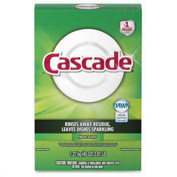 【美國 Cascade】自動洗碗機專用-洗碗粉(清新香-1.27kg/45oz)*6
