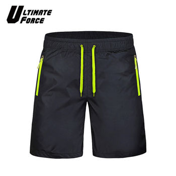 Ultimate Force極限動力「衝鋒」輕量速乾運動短褲 (黑綠)