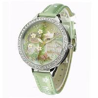 ~韓國MINI~ 軟陶晶鑽 手錶 #45 3D神秘花園