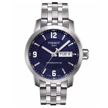 TISSOT T-Sport PRC200系列時尚機械腕錶-藍-39mm/T0554301104700