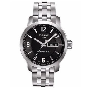 TISSOT T-Sport PRC200系列時尚機械腕錶-黑-39mm/T0554301105700