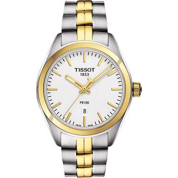 TISSOT PR100 經典奢華時尚半金女用腕錶-雙色/33mm-T1012102203100