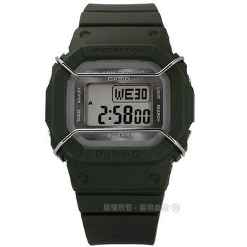 Baby-G CASIO / BGD-501UM-3 卡西歐中性都會電子數位橡膠手錶 墨綠色 40mm