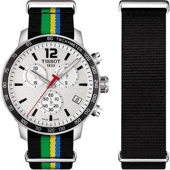 TISSOT QUICKSTER BAKU 2015牙買加特別版運動腕錶-銀/42mm/T0954171703702