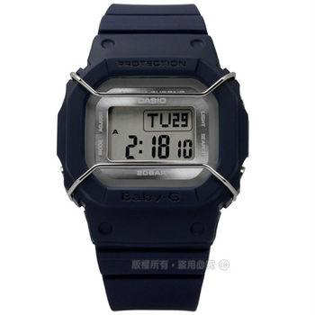 Baby-G CASIO / BGD-501UM-2 卡西歐中性都會電子數位橡膠手錶 藍色 40mm