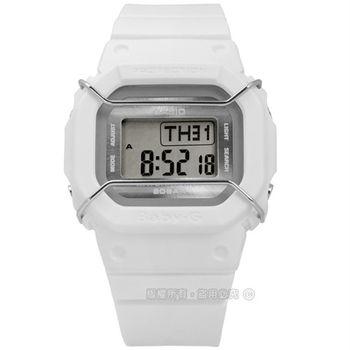 Baby-G CASIO / BGD-501UM-7 卡西歐中性都會電子數位橡膠手錶 白色 40mm