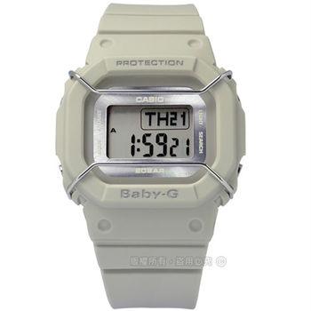 Baby-G CASIO / BGD-501UM-8 卡西歐中性都會電子數位橡膠手錶 米色 40mm