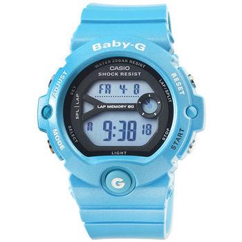 CASIO 卡西歐Baby-G 少女時代電子錶-藍 / BG-6903-2