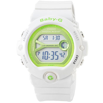 CASIO 日系卡西歐Baby-G 少女時代電子錶-白 / BG-6903-7