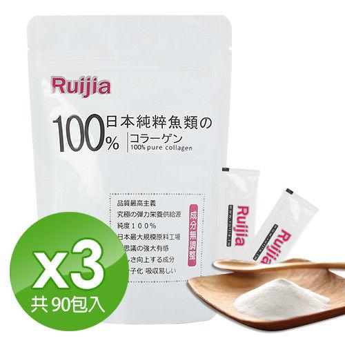 【Ruijia露奇亞】100%日本純粹魚類膠原蛋白粉?3袋組(90入)