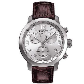 TISSOT PRC 200 雅痞時尚 三眼計時男用腕錶-42mm/T0554171603700