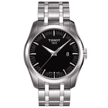 TISSOT Couturier建構師系列時尚腕錶/黑-39mm-T0354101105100