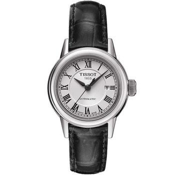 TISSOT T-Classic 經典大三針機械腕錶/黑-29mm/T0852071601300