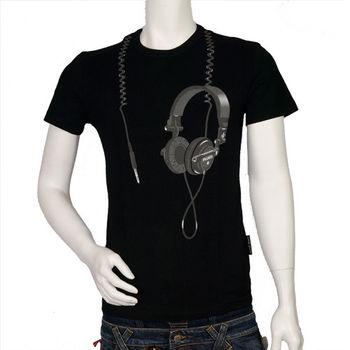 Frankie morello 耳機造型 T-shirt(黑)