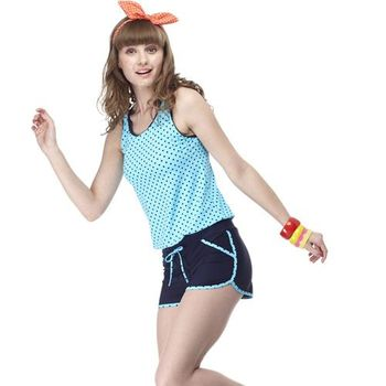 【SARBIS】大女兩件式泳裝附泳帽B82417