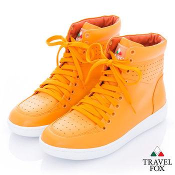 Travel Fox(女)CLASSIC 9000 高筒運動休閒鞋限定色 -無限桔