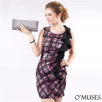 【OMUSES】歐美印花包臀洋裝37-1209(S-XL)