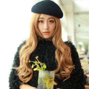 【米蘭精品】長假髮整頂假髮時尚性感中分大波浪