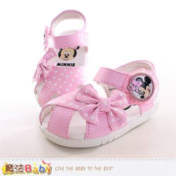 魔法Baby 寶寶鞋 迪士尼米妮正版寶寶涼鞋~sh9847