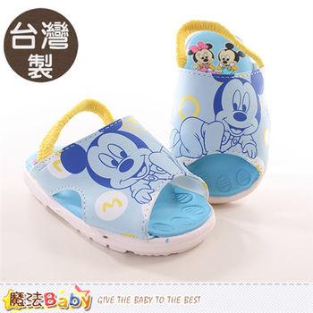 魔法Baby~寶寶涼鞋 台灣製專櫃款迪士尼米奇嗶嗶鞋 ~sh9844