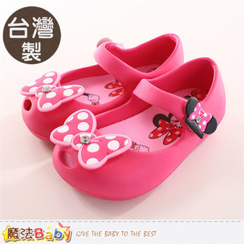 魔法Baby 女童鞋 迪士尼米妮正版輕便娃娃鞋~sh9849