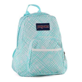 JanSport校園背包(HALF PINT)-湖水綠格(兒童包)