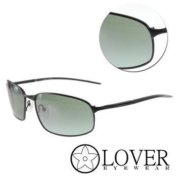 【Lover】墨綠長方金屬黑框太陽眼鏡(9315-C02)
