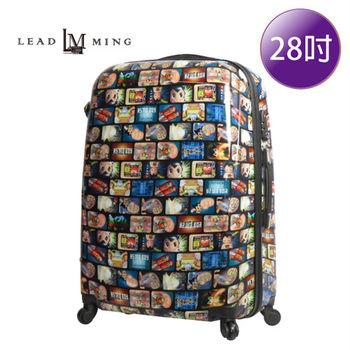 LEADMING-卡通版圖案授權亮面 28吋旅遊行李箱-原子小金剛