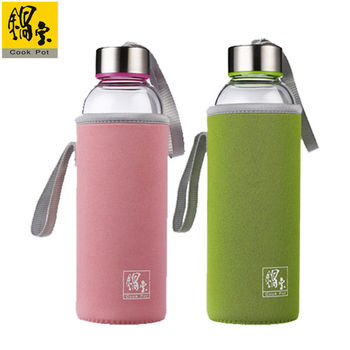 【鍋寶】玻璃水瓶2入組(粉+綠) EO-GS0570PGS0570G